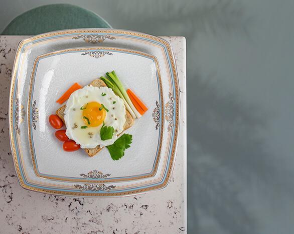 سرویس غذا خوری پاریس طرح شاینا فیروزه ای